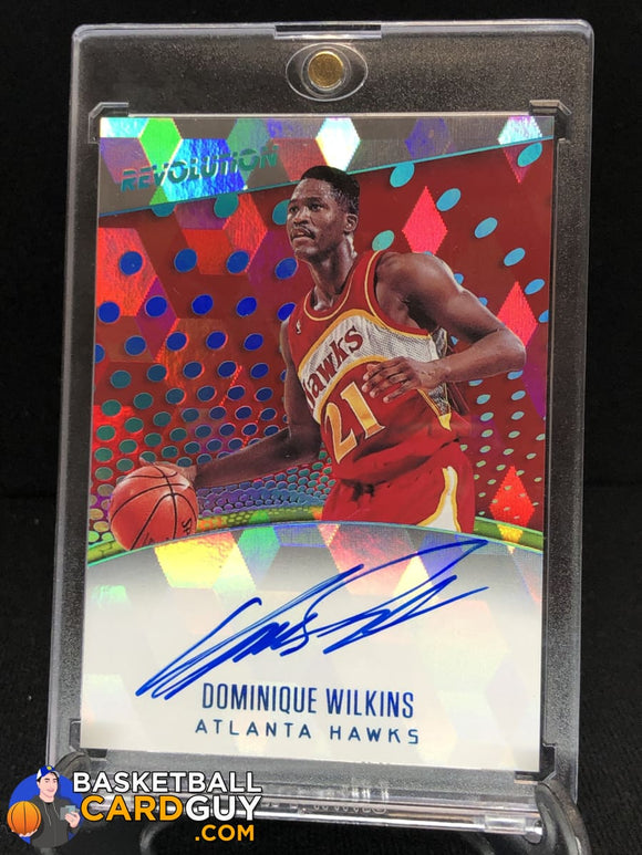Dominique Wilkins 2017-18 Panini Revolution Autographs Cubic #/50 - Basketball Cards