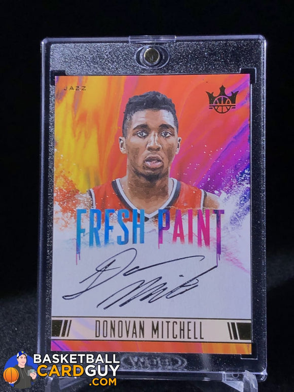 Donovan Mitchell 2017-18 Court Kings Fresh Paint Autographs Level II #/200 - Basketball Cards
