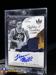 Donovan Mitchell 2017-18 Court Kings Sketches and Swatches #/399 - Basketball Cards