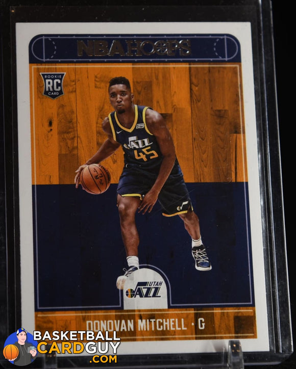 Donovan Mitchell 2017-18 Hoops #263 RC basketball card, rookie card