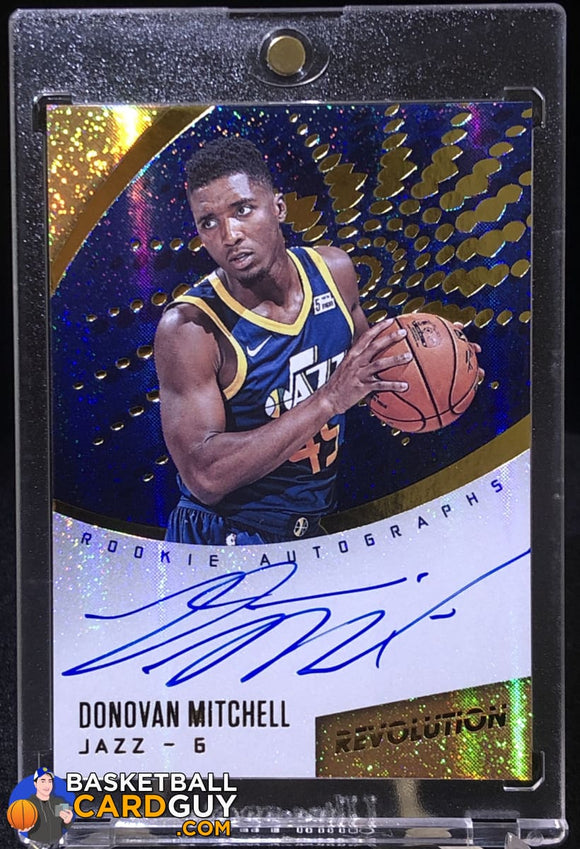 Donovan Mitchell 2017-18 Panini Revolution Rookie Autographs #18 autograph basketball card rookie card