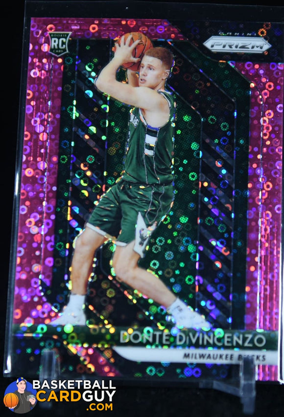 Donte DiVincenzo 2018-19 Panini Prizm Prizms Fast Break Pink #/50 RC basketball card, numbered, prizm, rookie card