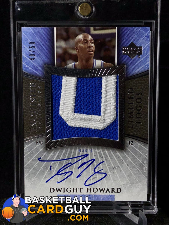 Dwight Howard 2005-06 Exquisite Collection Limited Logos /50 Autograph Basketball Card Exquisite Numbered Patch
