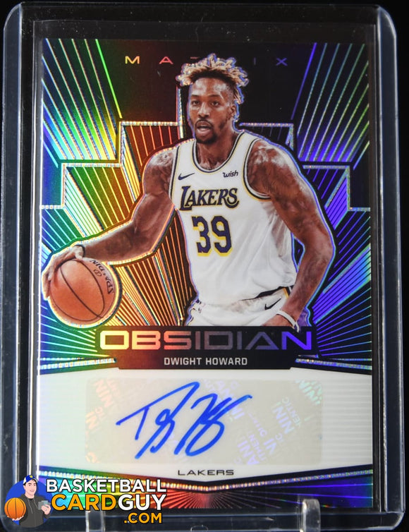 Dwight Howard 2019-20 Panini Obsidian Matrix Autographs #/60 autograph, basketball card, numbered, rookie card