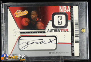Dwyane Wade 2003-04 Fleer Authentix Autographs #AADW #/325 RC autograph, basketball card, numbered, rookie card