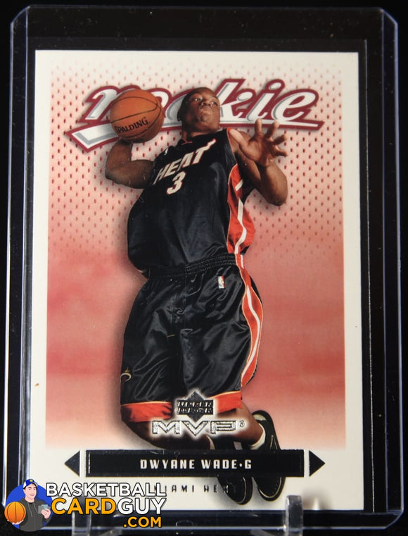Dwyane Wade 2003-04 Upper Deck MVP #205 RC basketball card, rookie card