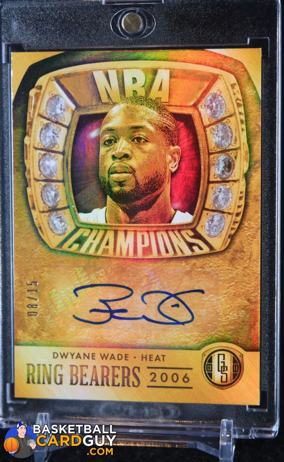 Dwyane Wade 2013-14 Panini Gold Standard Ring Bearers Autographs #/15 - Basketball Cards