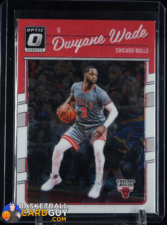 Dwyane Wade 2016-17 Donruss Optic #12 basketball card, prizm, rookie card