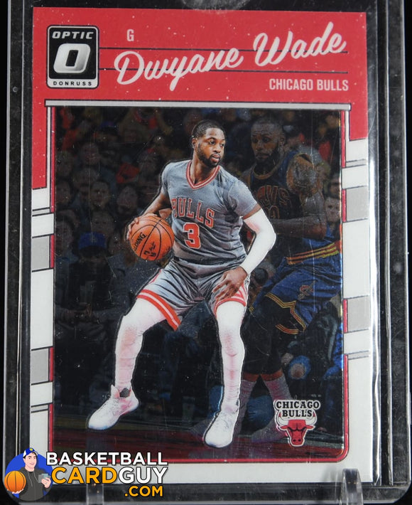 Dwyane Wade 2016-17 Donruss Optic #12 (w/ Lebron James in background) basketball card