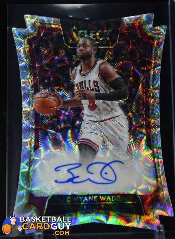 Dwyane Wade 2016-17 Select Die-Cut Autographs Scope #/25 autograph, basketball card, numbered