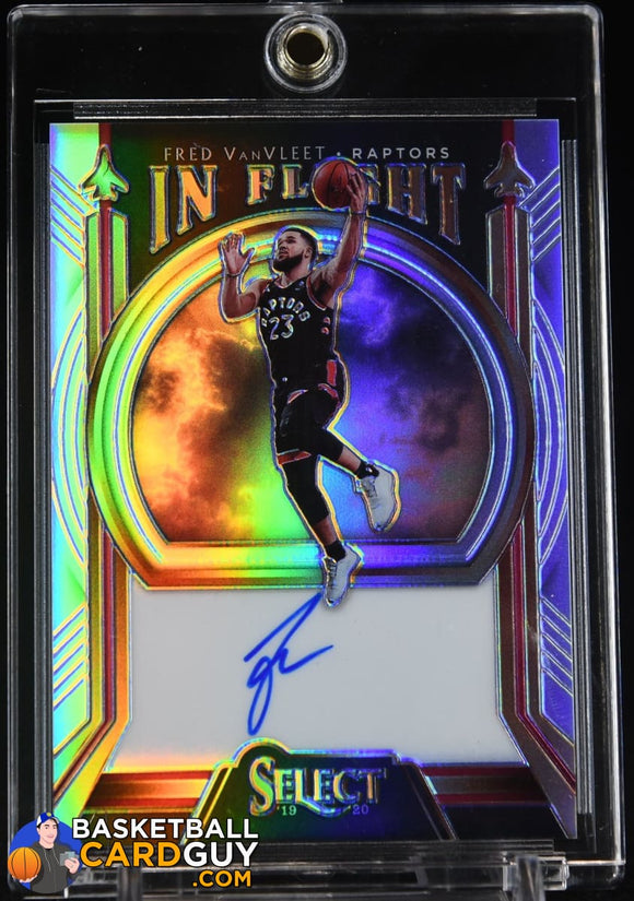 Fred VanVleet 2019-20 Select In Flight Signatures #/149 autograph, basketball card, numbered