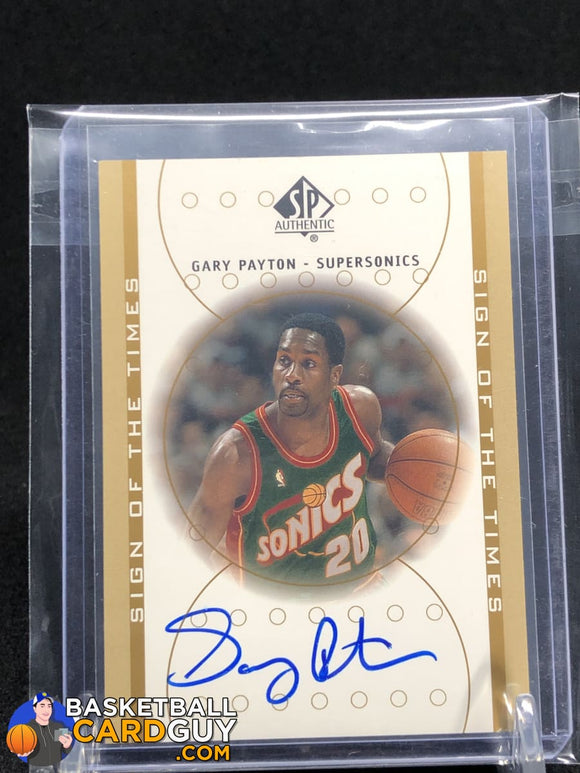 Gary Payton 2000-01 SP Authentic Sign of the Times #GP - Basketball Cards