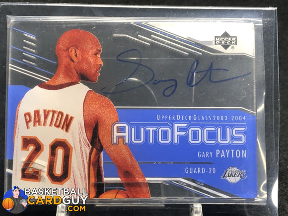Gary Payton 2003-04 UD Glass Auto Focus #GP - Basketball Cards