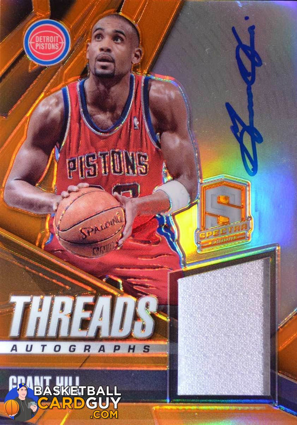 Grant Hill 2013-14 Spectra Orange Threads /15 - Basketball Cards