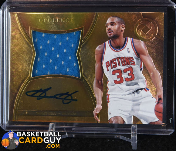 Grant Hill 2017-18 Panini Opulence Precious Swatch Signatures #/25 - Basketball Cards