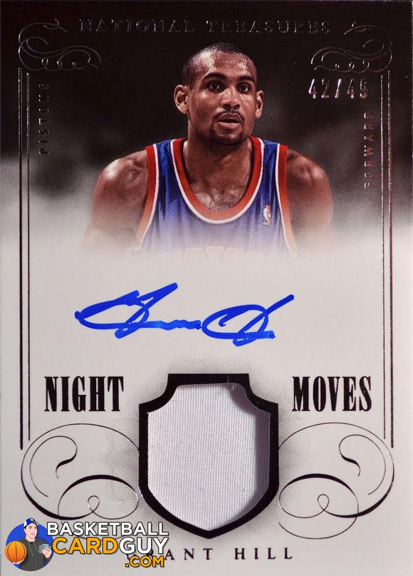 Grant Hill Night Moves 2013-14 National Treasures - Basketball Cards