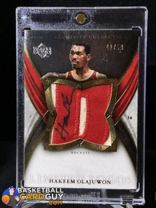 Hakeem Olajuwon 2006-07 Exquisite Collection Limited Logos - Basketball Cards
