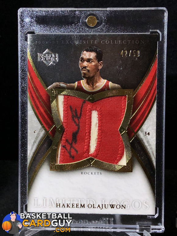 Hakeem Olajuwon 2006-07 Exquisite Collection Limited Logos Autograph Basketball Card Exquisite Numbered Patch