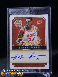 Hakeem Olajuwon 2009-10 Hall of Fame Famed Signatures #/299 34 Inscription - Basketball Cards