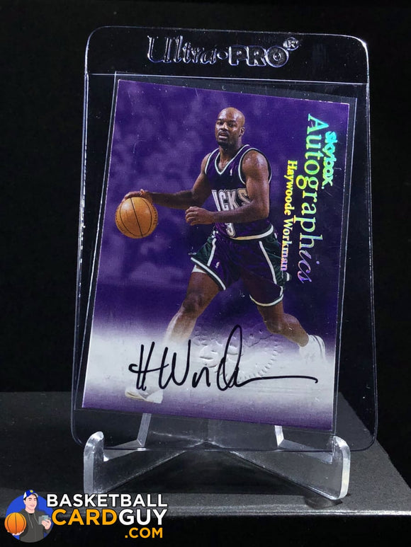 Haywoode Workman 1999-00 Skybox Premium Autographics - Basketball Cards