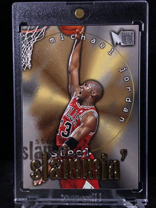 1996-97 Metal Steel Slammin' #6 Michael Jordan - Basketball Cards