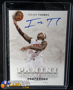 Isaiah Thomas 2014-15 Preferred Panini Signatures - Basketball Cards