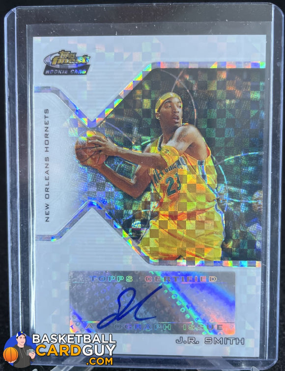 J.R. Smith 2004-05 Finest X-Fractors #169 RC AU #/129 autograph, basketball card, numbered, refractor, rookie card