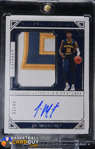 Ja Morant 2019-20 Panini National Treasures Collegiate #82 JSY AU #/99 - Basketball Cards