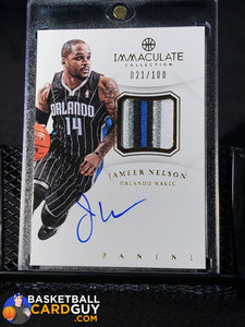 Jameer Nelson Immaculate Patch Autograph #/100 - Basketball Cards