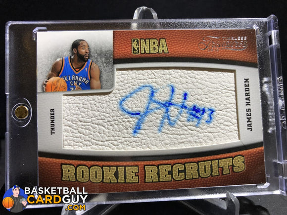 James Harden 2009-10 Timeless Treasures #103 Auto Rc Autograph Basketball Card Numbered Rookie Card