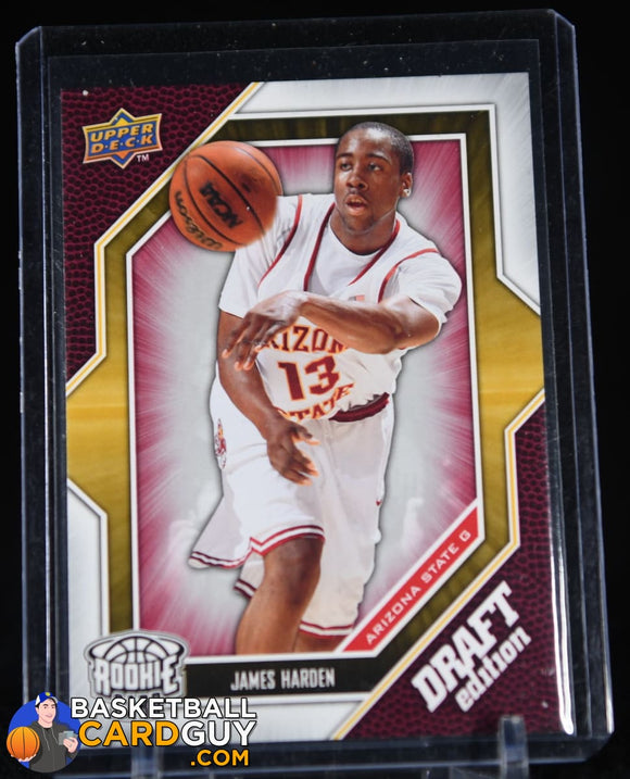 James Harden 2009-10 Upper Deck Draft Edition #40 RC basketball card, rookie card