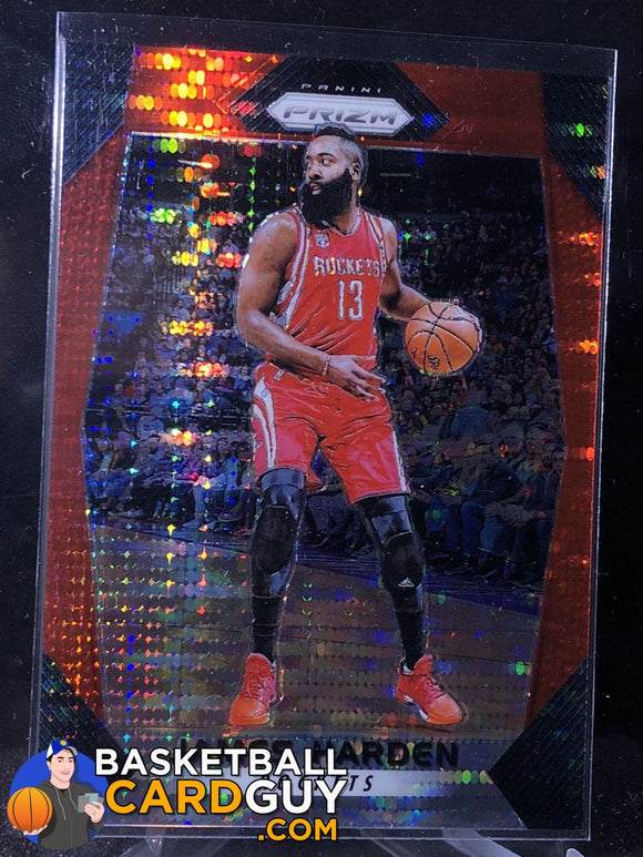 James Harden 2017-18 Panini Prizm Prizms Red Pulsar /25 - Basketball Cards