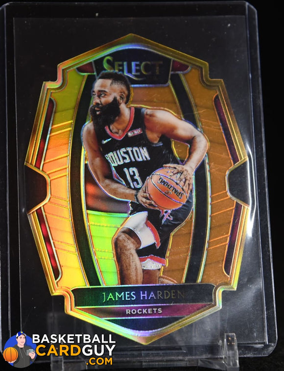 James Harden 2018-19 Select Prizms Orange Die Cut #158 numbered, prizm