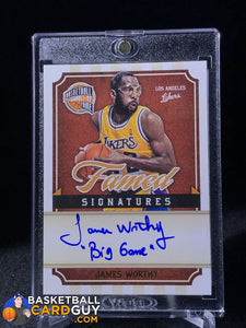 "James Worthy 2009-10 Hall of Fame Famed Signatures #/249 ""Big Game"" Inscription - Basketball Cards"