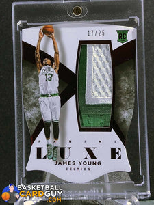 James Young 2014-15 Panini Luxe Memorabilia Die Cuts Prime Red - Basketball Cards