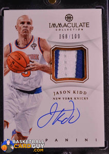 Jason Kidd 2012-13 Immaculate Collection Patch Autographs - Basketball Cards