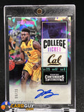 Jaylen Brown 2016-17 Panini Contenders Draft Picks Cracked Ice Ticket AU/Yellow Jersey #/23 - Basketball Cards