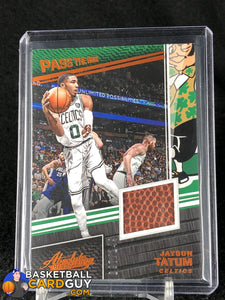 Jayson Tatum 2017-18 Absolute Memorabilia Pass the Rock #/149 - Basketball Cards