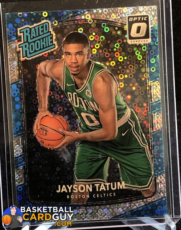 Jayson Tatum 2017-18 Donruss Optic Fast Break Holo #198 RR - Basketball Cards