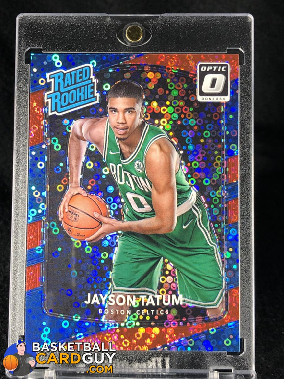 Jayson Tatum 2017-18 Donruss Optic Fast Break Red #41/85 - Basketball Cards