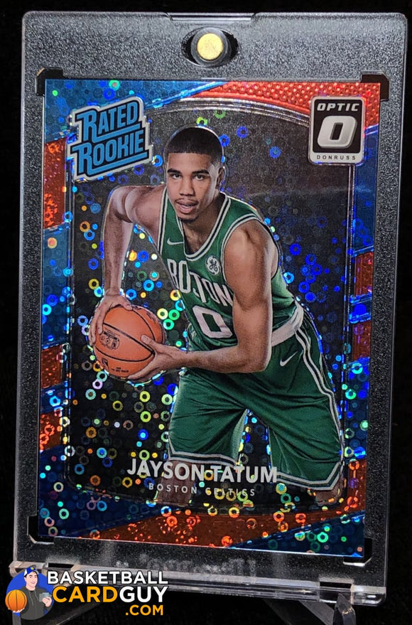 Jayson Tatum 2017-18 Donruss Optic Fast Break Red RC #/85 - Basketball Cards