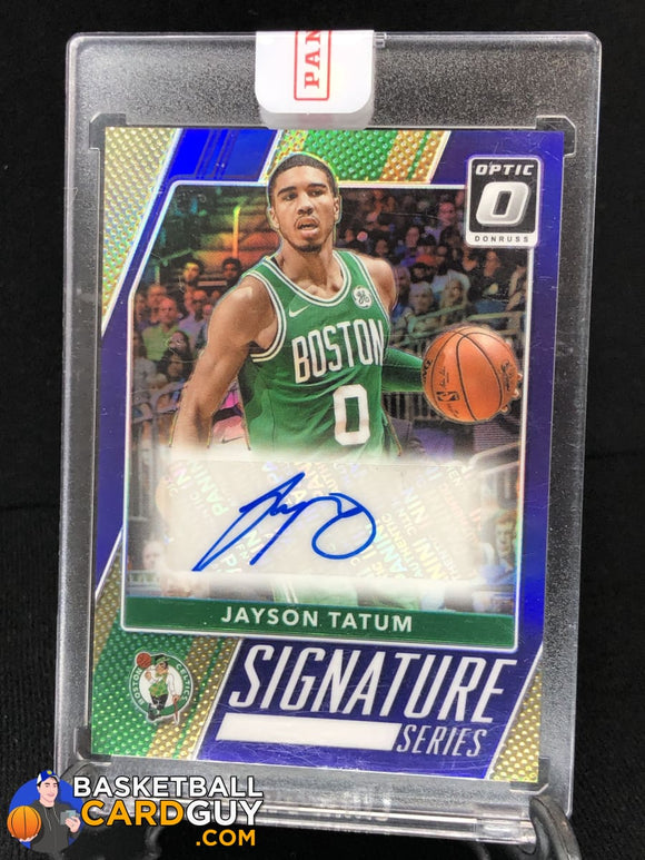 Jayson Tatum 2017-18 Donruss Optic Signature Series Purple - Basketball Cards