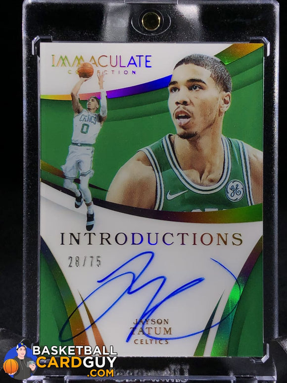 Jayson Tatum 2017-18 Immaculate Collection Immaculate Introductions Autographs /75 - Basketball Cards