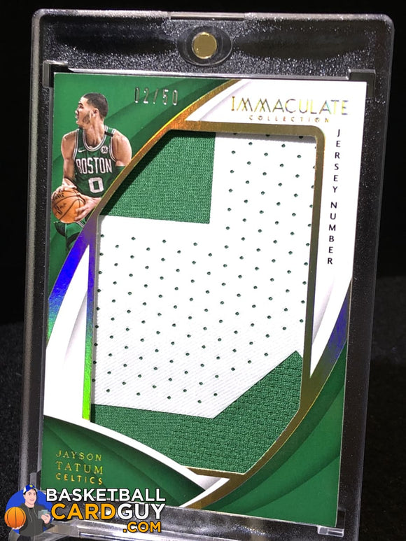 Jayson Tatum 2017-18 Immaculate Jersey Numbers Patch #/50 RC basketball card numbered patch rookie card