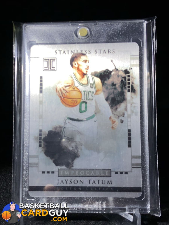 Jayson Tatum 2017-18 Panini Impeccable Stainless Stars #/99 - Basketball Cards