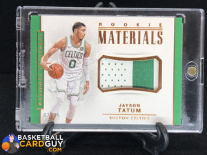 Jayson Tatum 2017-18 Panini National Treasures Rookie Materials Bronze #02/25 - Basketball Cards