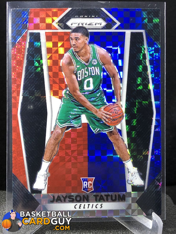 Jayson Tatum 2017-18 Panini Prizm Red White Blue Prizm - Basketball Cards