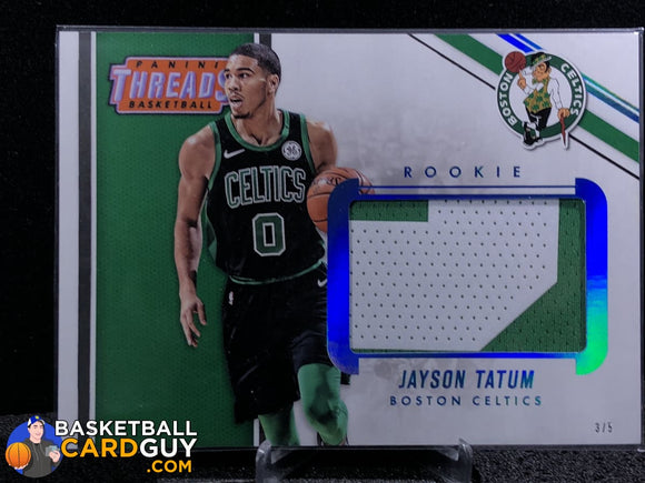 Jayson Tatum 2017-18 Panini Threads Box Topper (5x7) Rookie Memorabilia Prime #/5 - Basketball Cards