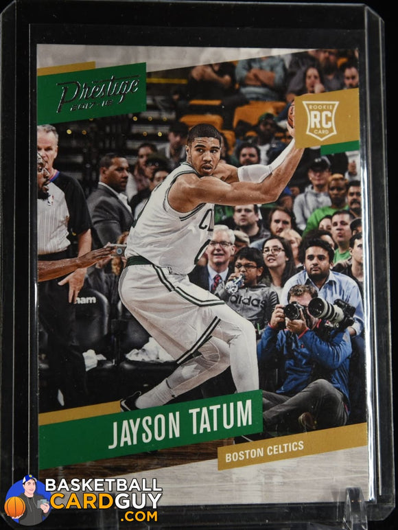 Jayson Tatum 2017-18 Prestige #153 RC basketball card, rookie card