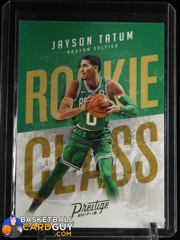 Jayson Tatum 2017-18 Prestige Rookie Class #3 basketball card, rookie card